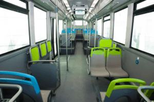 Intérieur des nouveaux bus électrique de la RTM